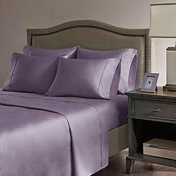 Madison Park Hotel 800-Thread-Count Cotton  Rich Queen Sheet Set in Purple