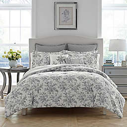 Laura Ashley® Annalise Reversible Twin Comforter Set in Grey