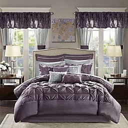 Madison Park® Essentials Joella 24-Piece King Comforter Set in Plum