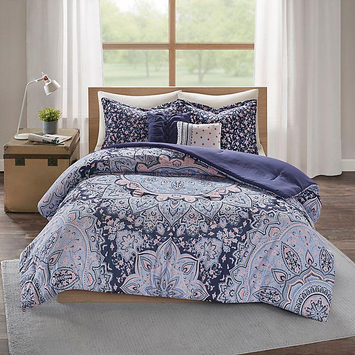 Alternate image 1 for Intelligent Design Odette 5-Piece Reversible Comforter Set