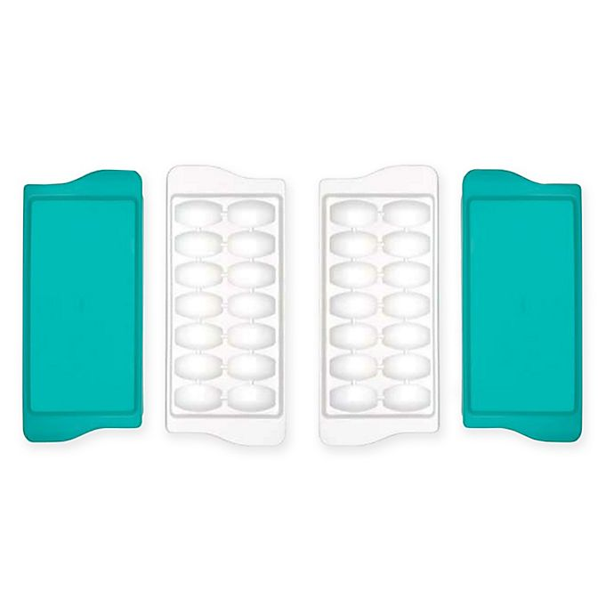 Alternate image 1 for OXO Tot® Baby Food Freezer Trays in Teal (Set of 2)