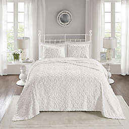Madison Park™ Sabrina 3-Piece Bedspread Set in White