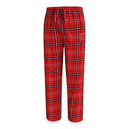 University of Wisconsin Men's Flannel Plaid Pajama Pant with Left Leg Team Logo