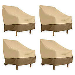 Classic Accessories® Veranda High Back Dining Patio Chair Covers in Pebble