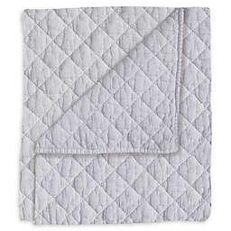 Hello Spud Diamond Stonewash Quilt in Grey