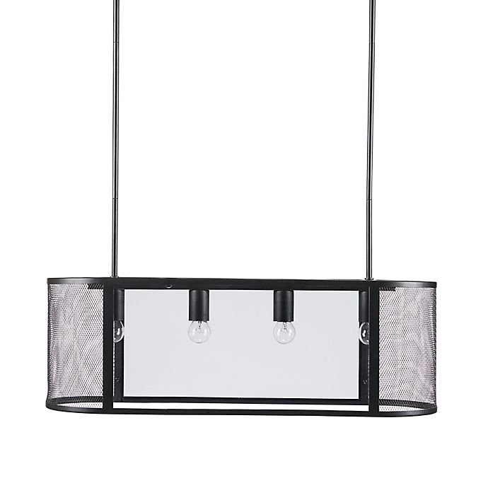 Alternate image 1 for INK+IVY Hopkins 4-Light Pendant in Black with Glass Shades