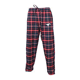 Southern Methodist University Men's Flannel Plaid Pajama Pant with Left Leg Team Logo