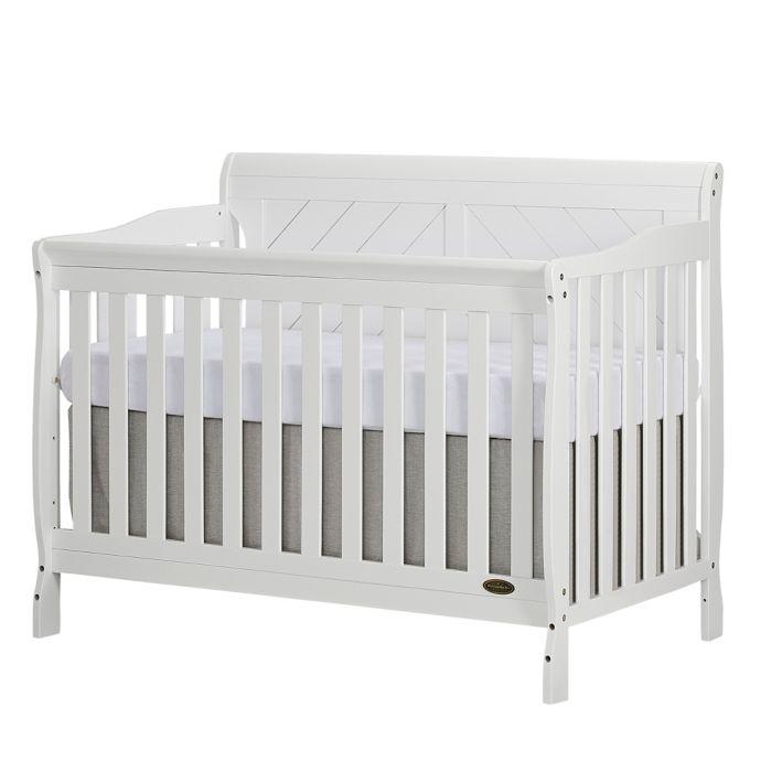 Dream On Me Ashton 4 In 1 Convertible Crib In White Bed Bath Beyond