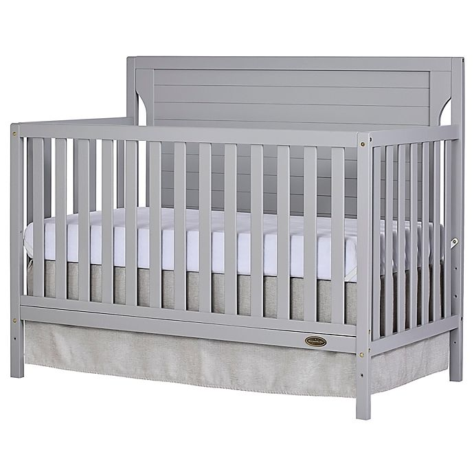 Alternate image 1 for Dream On Me Cape Cod 4-in-1 Convertible Crib in Pebble Grey