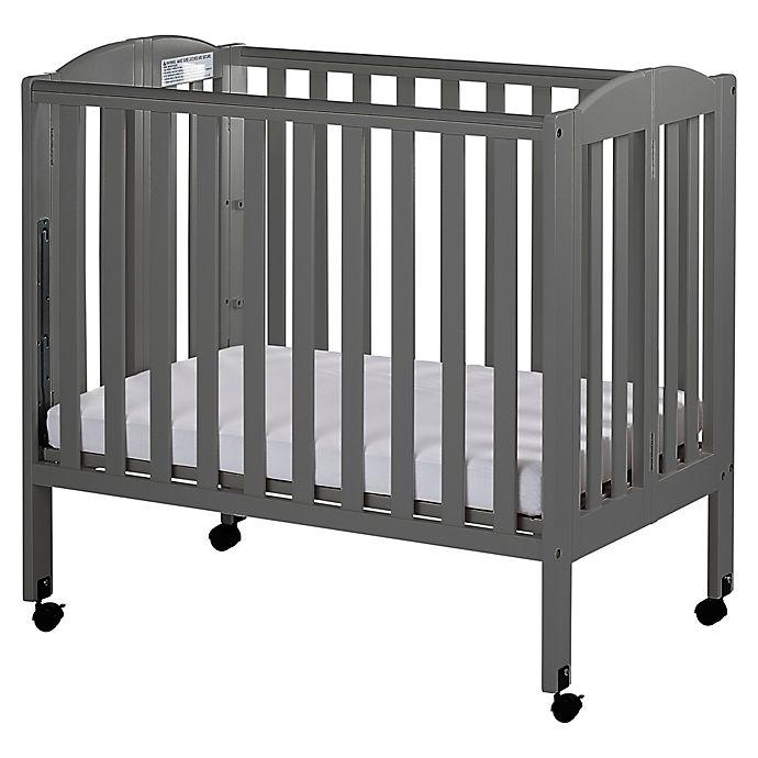 Alternate image 1 for Dream On Me 3-in-1 Folding Portable Mini Crib in Steel Grey