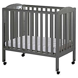 Dream On Me 3-in-1 Folding Portable Mini Crib in Steel Grey