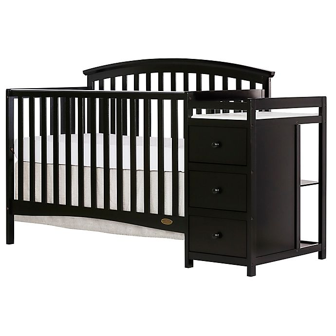Alternate image 1 for Dream On Me Niko 5-in-1 Convertible Crib and Changer in Black