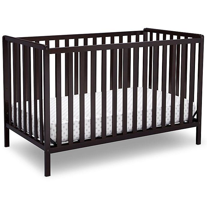 Alternate image 1 for Delta Children Heartland 4-In-1 Convertible Crib in Chocolate