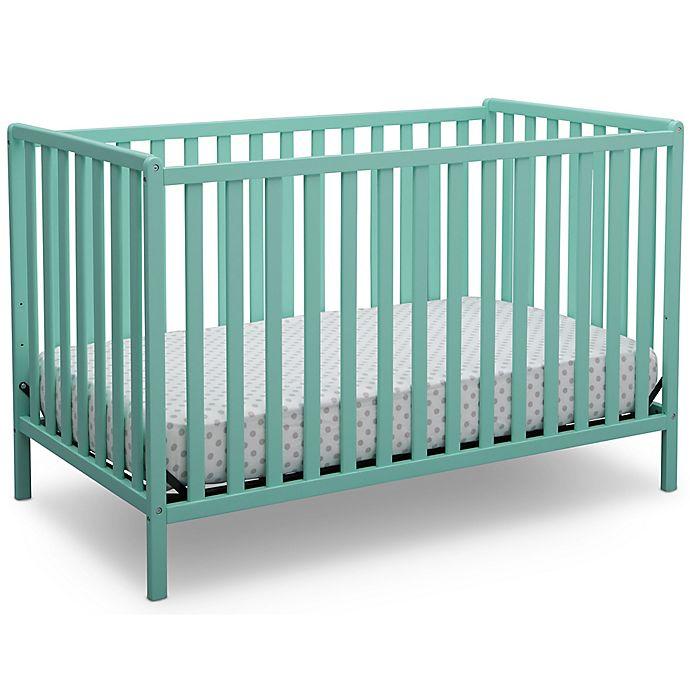 Alternate image 1 for Delta Children Heartland 4-In-1 Convertible Crib in Aqua