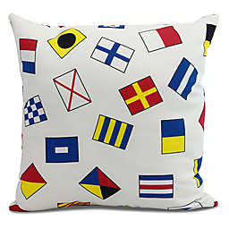 E by Design All Over Toss Multicolor Square Pillow