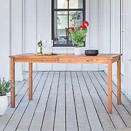 Forest Gate Arvada Acacia Wood Outdoor Dining Table in Brown