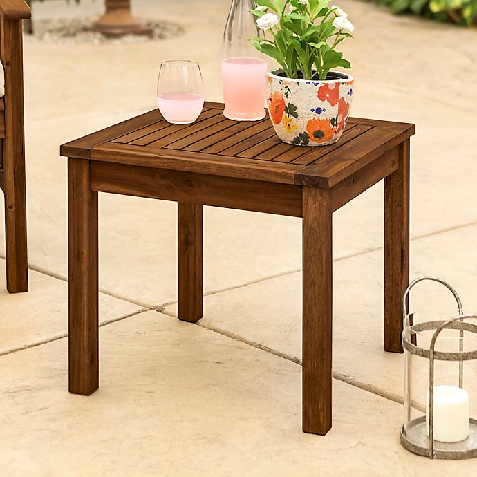 Alternate image 1 for Forest Gate™ Arvada Acacia Wood Outdoor Side Table