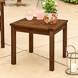 Forest Gate™ Arvada Acacia Wood Outdoor Side Table in Dark Brown