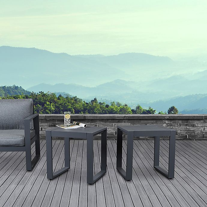 Real Flame Baltic Outdoor End Tables, Outdoor End Tables