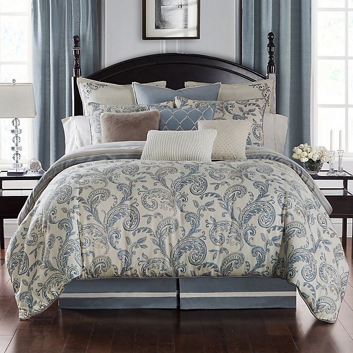 Alternate image 1 for Waterford® Florence Reversible Comforter Set