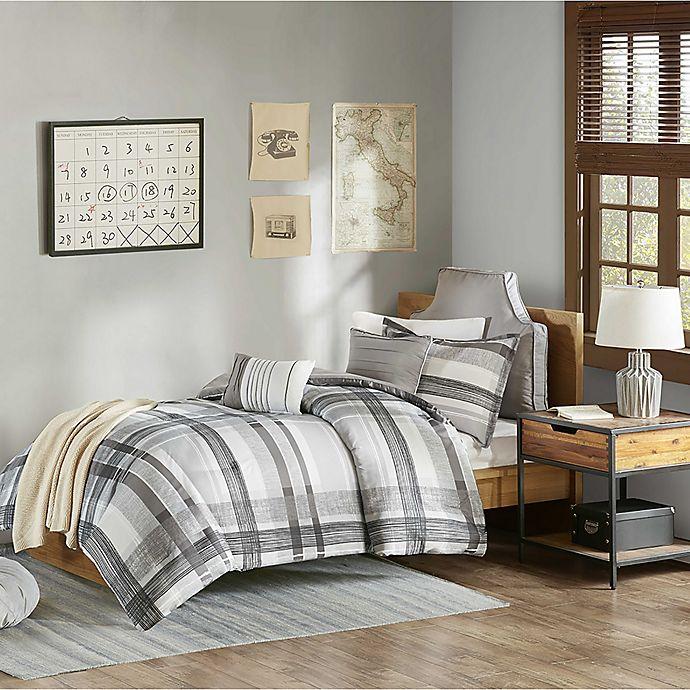 Alternate image 1 for Intelligent Design Rudy Plaid 5-Piece Full/Queen Comforter Set in Black