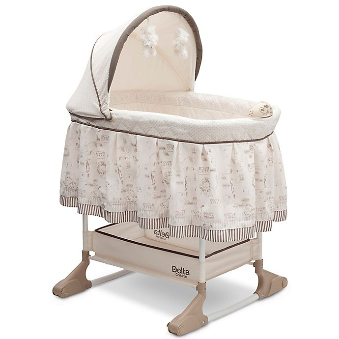 Alternate image 1 for Delta Children Rocking Bassinet in Play Time Jungle