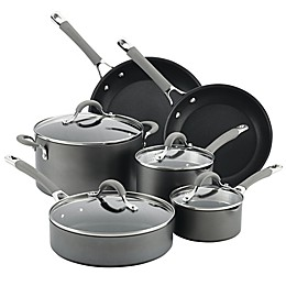 Circulon® Elementum™ Nonstick Hard-Anodized 10-Piece Cookware Set in Oyster Grey