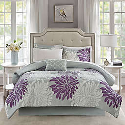 Madison Park Essentials Maible 9-Piece King Comforter Set in Purple
