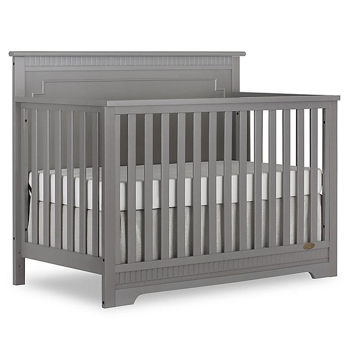 Alternate image 1 for Dream On Me Morgan 5-in-1 Convertible Crib in Steel Grey