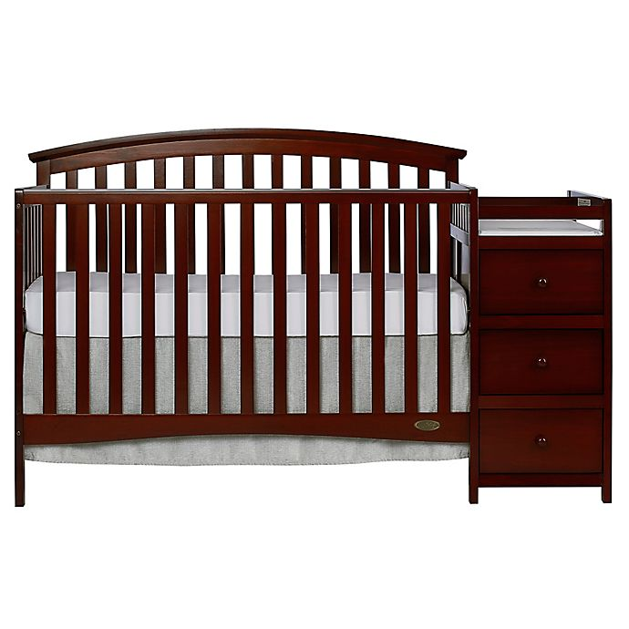 Alternate image 1 for Dream On Me Niko 5-in-1 Convertible Crib with Changer in Espresso