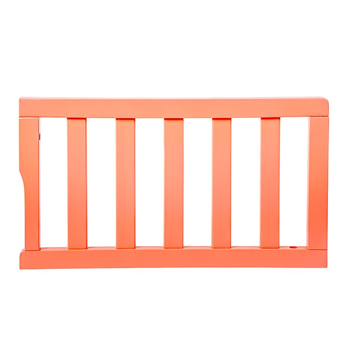 Alternate image 1 for Dream On Me Universal Convertible Crib Toddler Guard Rail in Coral