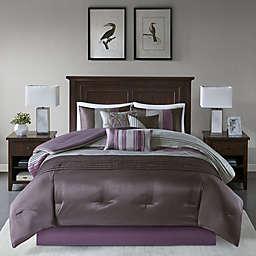 Madison Park Amherst 7-Piece Queen Comforter Set in Plum