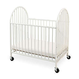 LA Baby® Arched Metal Portable Mini Crib in White