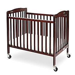 LA Baby® Pocket Crib Mini Portable Folding Crib in Cherry
