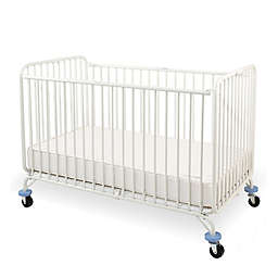 LA Baby® Holiday Portable Folding Crib in White