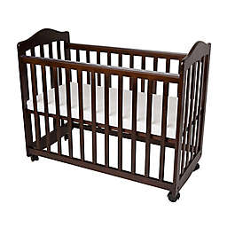 LA Baby® The Original Bedside Manor Mini Crib in Cherry