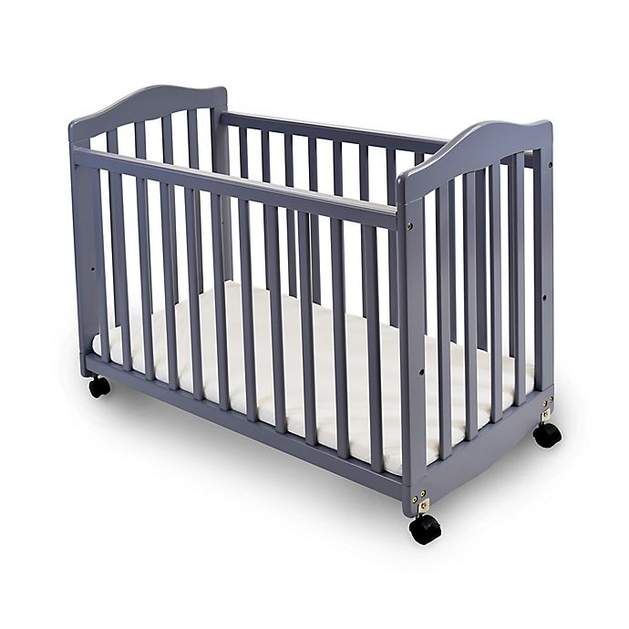 Alternate image 1 for LA Baby® The Original Bedside Manor Convertible Crib in Grey