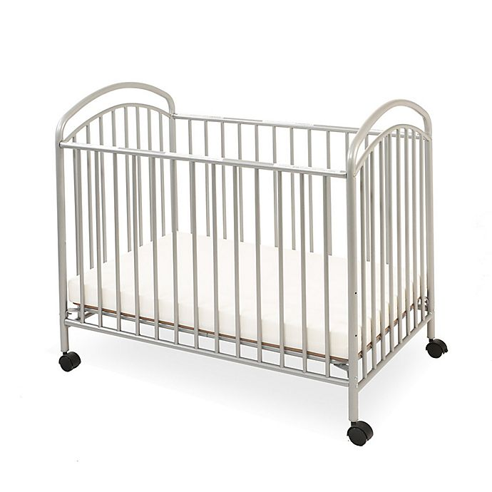 Alternate image 1 for LA Baby® Classic Arched Mini Crib in Pewter