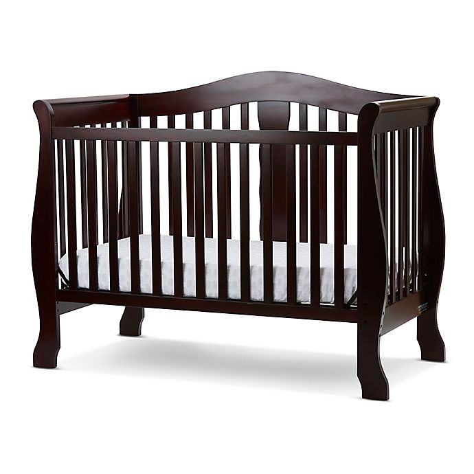 Alternate image 1 for LA Baby® Avalon 4-in-1 Convertible Crib in Cherry