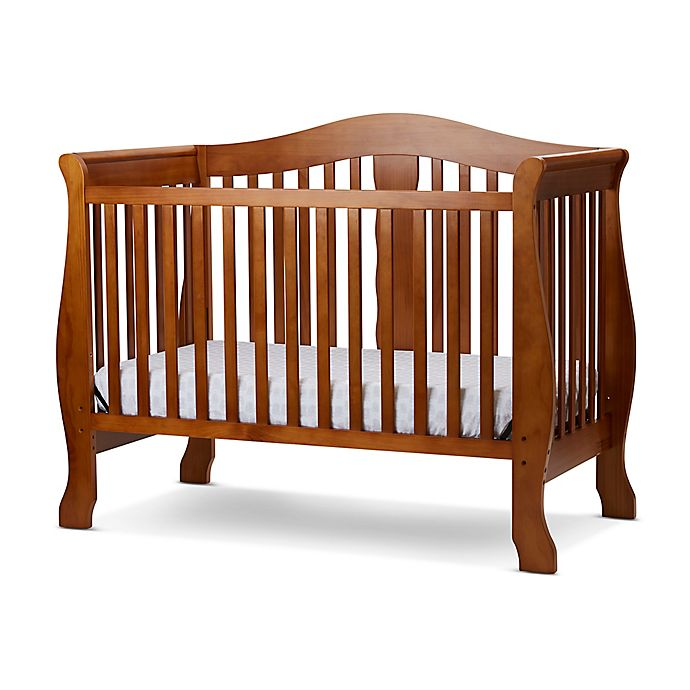 Alternate image 1 for LA Baby® Avalon 4-in-1 Convertible Crib in Pecan