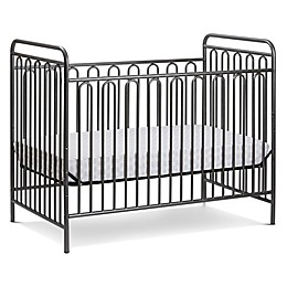 LA Baby® Trinity 3-in-1 Convertible Crib in Grey Pebble