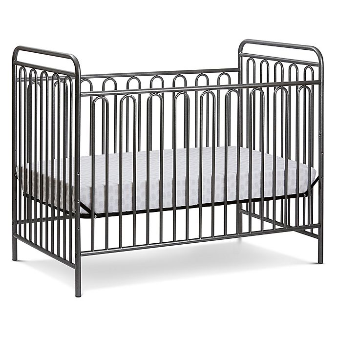 Alternate image 1 for LA Baby® Trinity 3-in-1 Convertible Crib in Grey Pebble