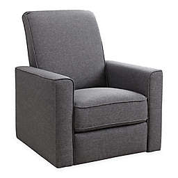 Abbyson Living® Emma Nursery Swivel Glider Recliner in Grey
