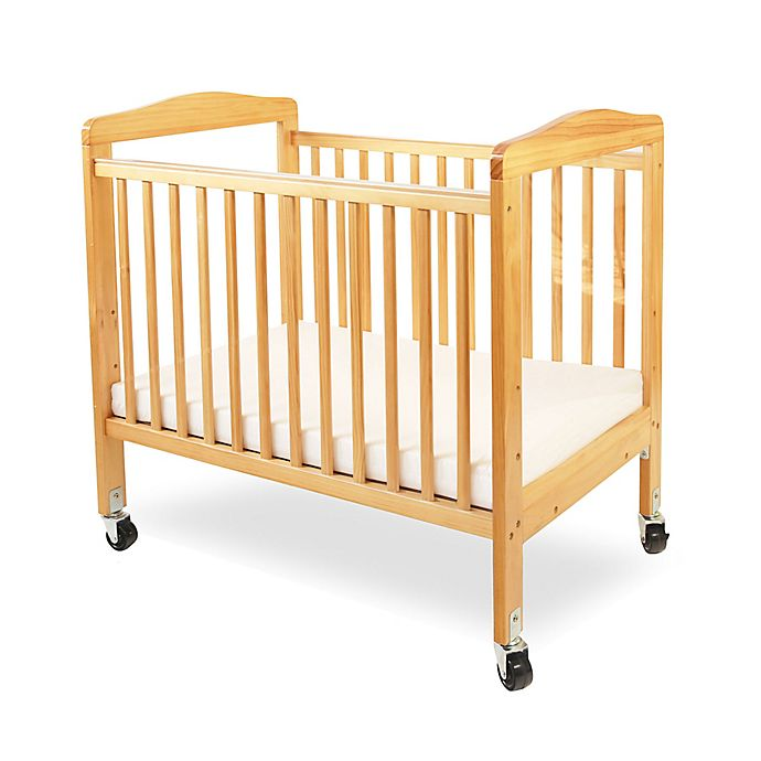 Alternate image 1 for LA Baby® Mini Portable Crib with Clear Panels in Natural