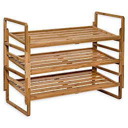Honey-Can-Do® 3-Piece 3-Tier Stacking Bamboo Shoe Rack