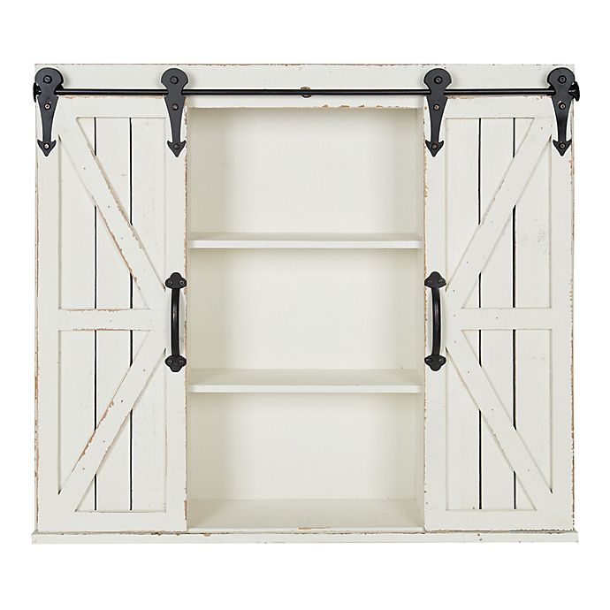 Alternate image 1 for Kate and Laurel™ Cates 30-Inch x 27-Inch Decorative Wood Wall Cabinet in White