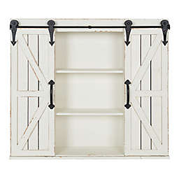 Kate and Laurel™ Cates Decorative Wood Wall Cabinet in White