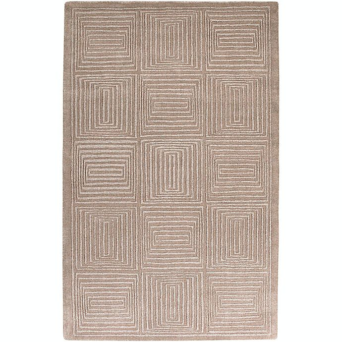 Alternate image 1 for Surya Mystique Solid Geometric 5' x 8' Area Rug in Neutral