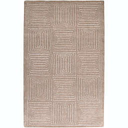 Surya Mystique Solid Geometric Rug in Neutral
