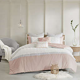 Urban Habitat Myla 7-Piece Full/Queen Duvet Cover Set in Blush